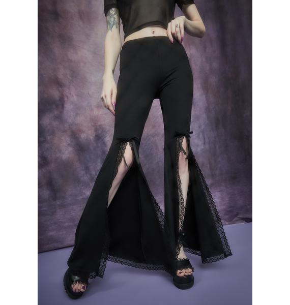 Widow Initiation Into Darkness Front Split Bell Bottoms