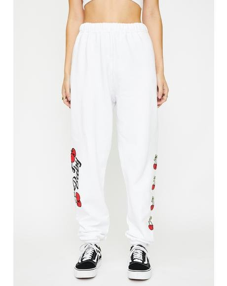 White Cherry Baby Sweatpants