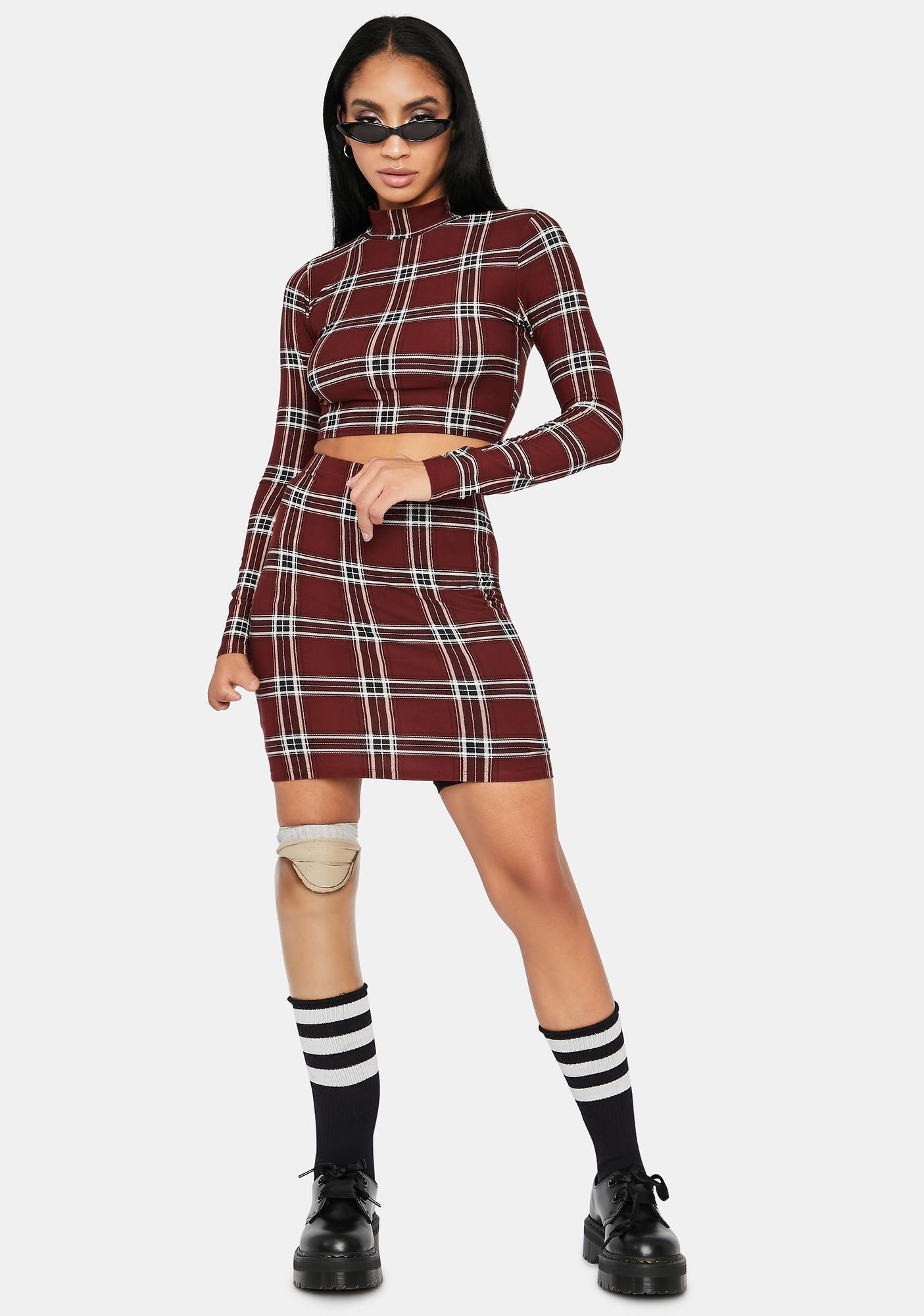 Plaid Beauty Skirt Set