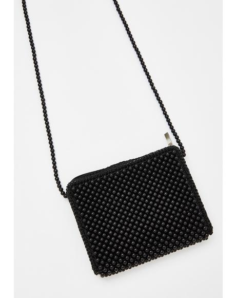 Pearl On Point Beaded Purse