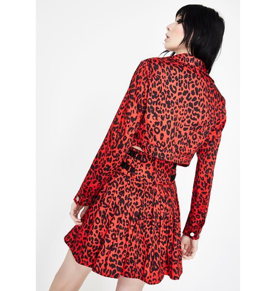 Jawbreaker Leopard Print Crop Jacket