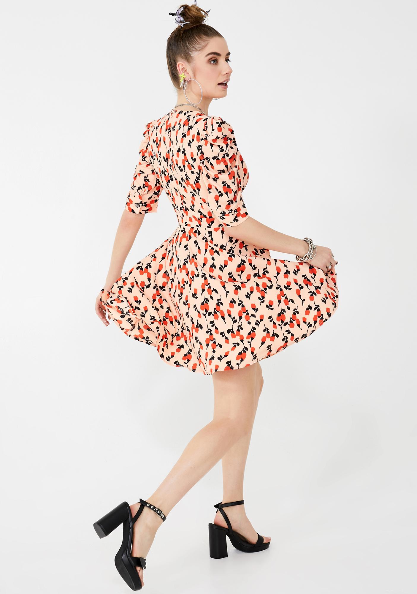 Glamorous Puff Sleeve Mini Dress