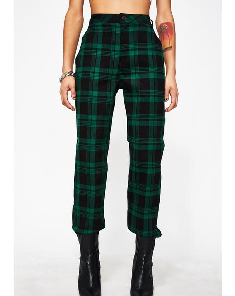 Dank Misconduct Plaid Joggers