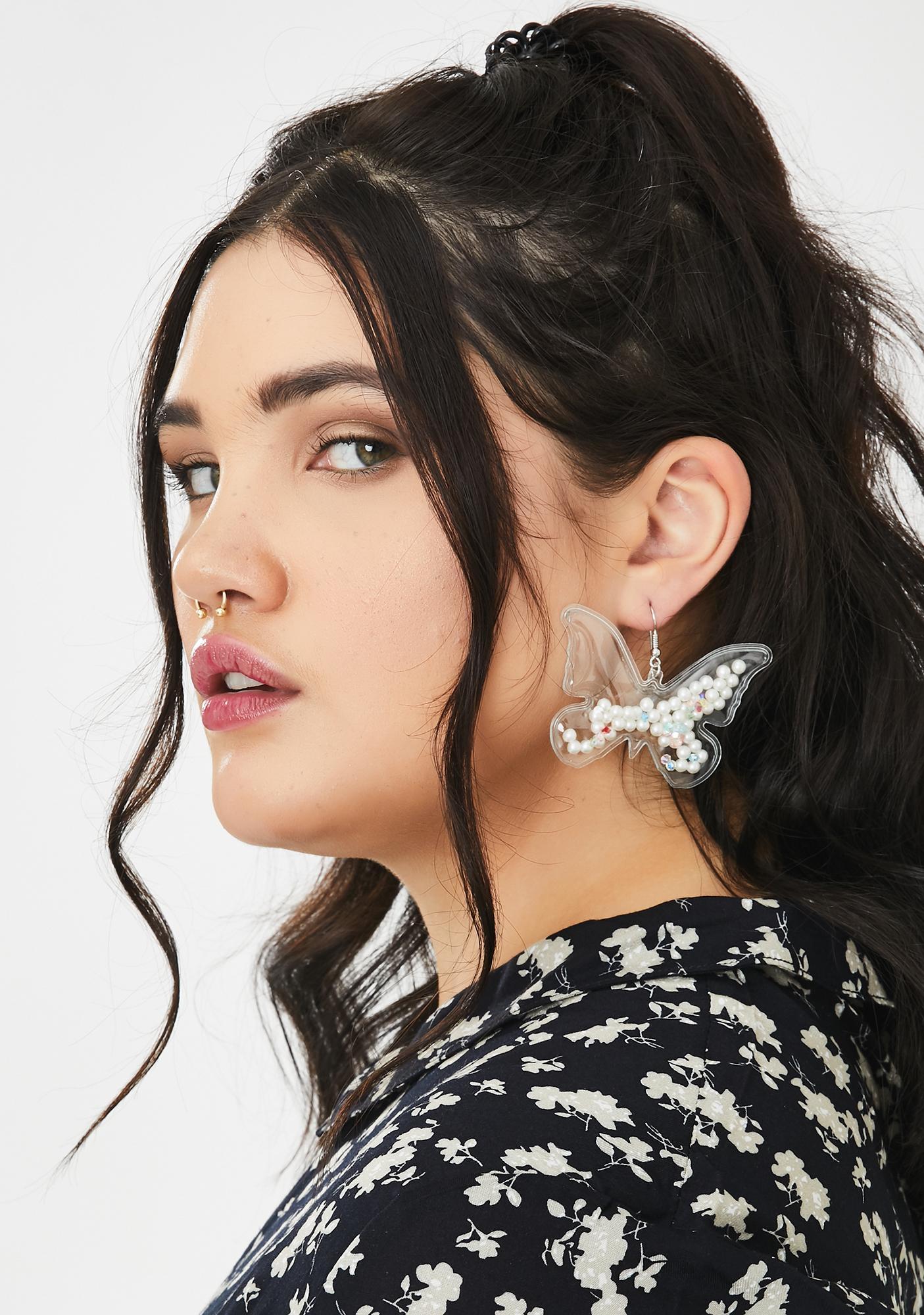 Clear Skies Butterfly Earrings