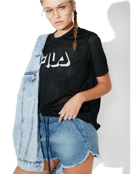 Midnight Liona Mesh T-Shirt