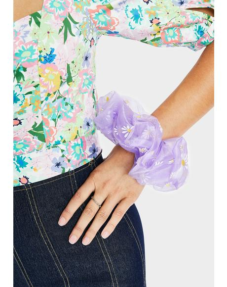 Magic Dear Daisy Organza Scrunchie