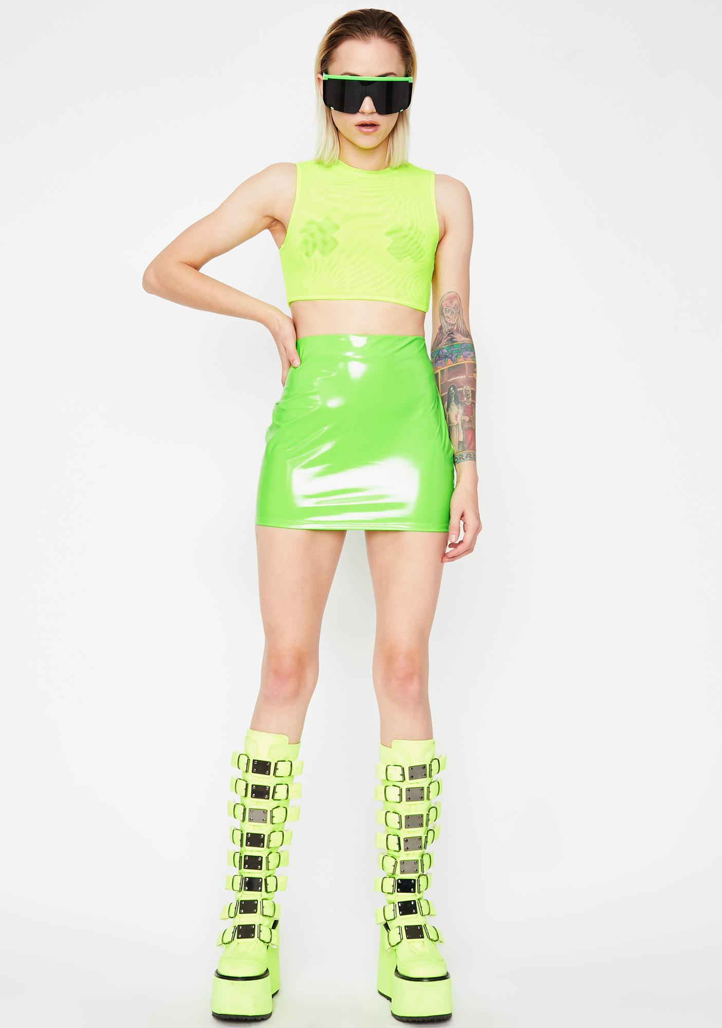 Slime Type Of Way Vinyl Skirt