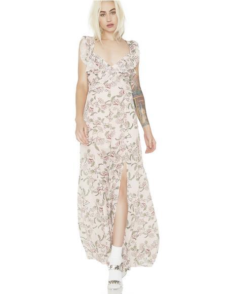 Bee Balm Floral Maxi Dress