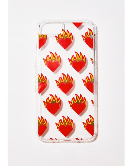 Flame Heart iPhone Case