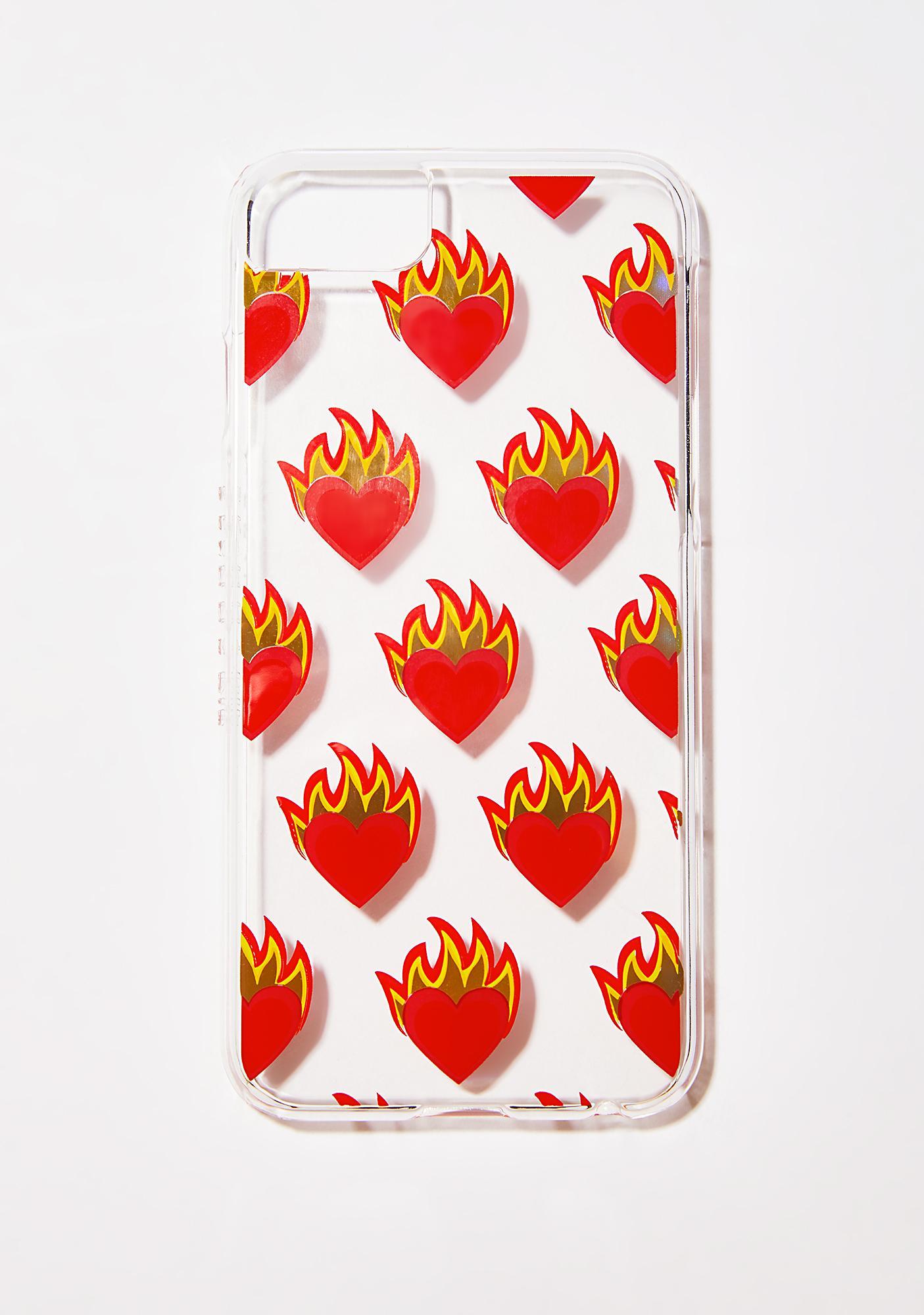 Skinnydip Flame Heart iPhone Case