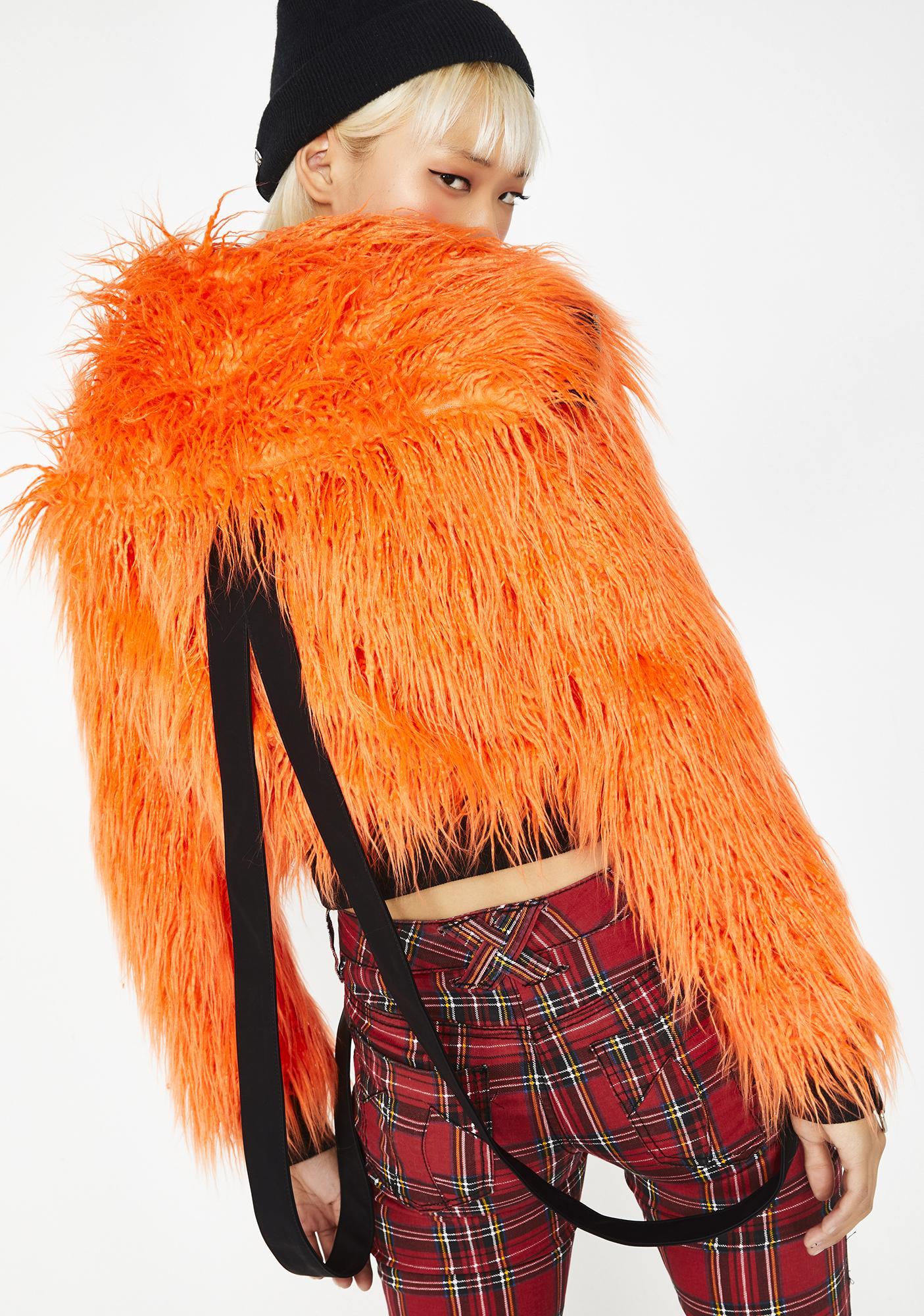 Current Mood Vibrant Chaos Fuzzy Jacket