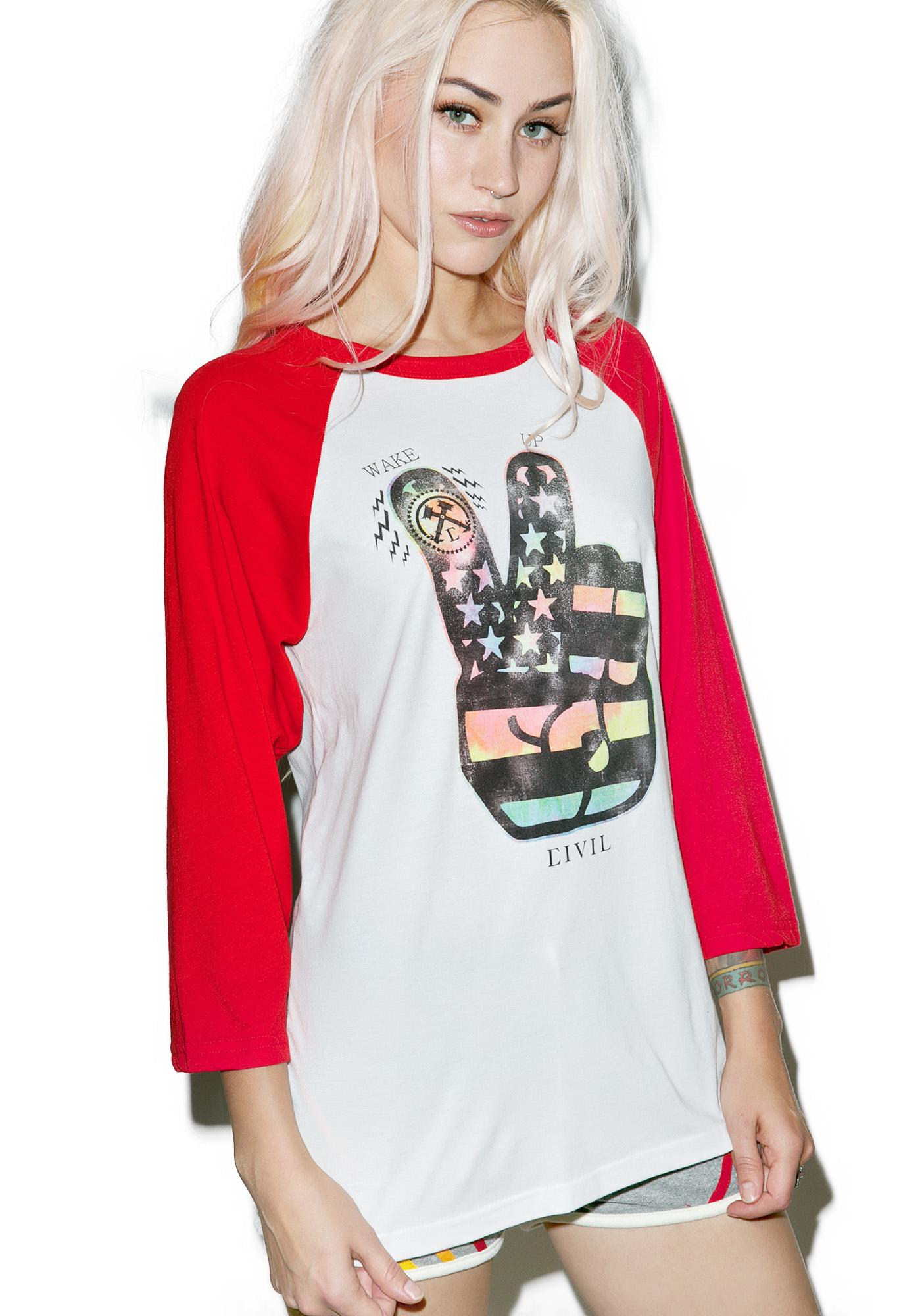 Civil Clothing Wake Up Raglan Tee
