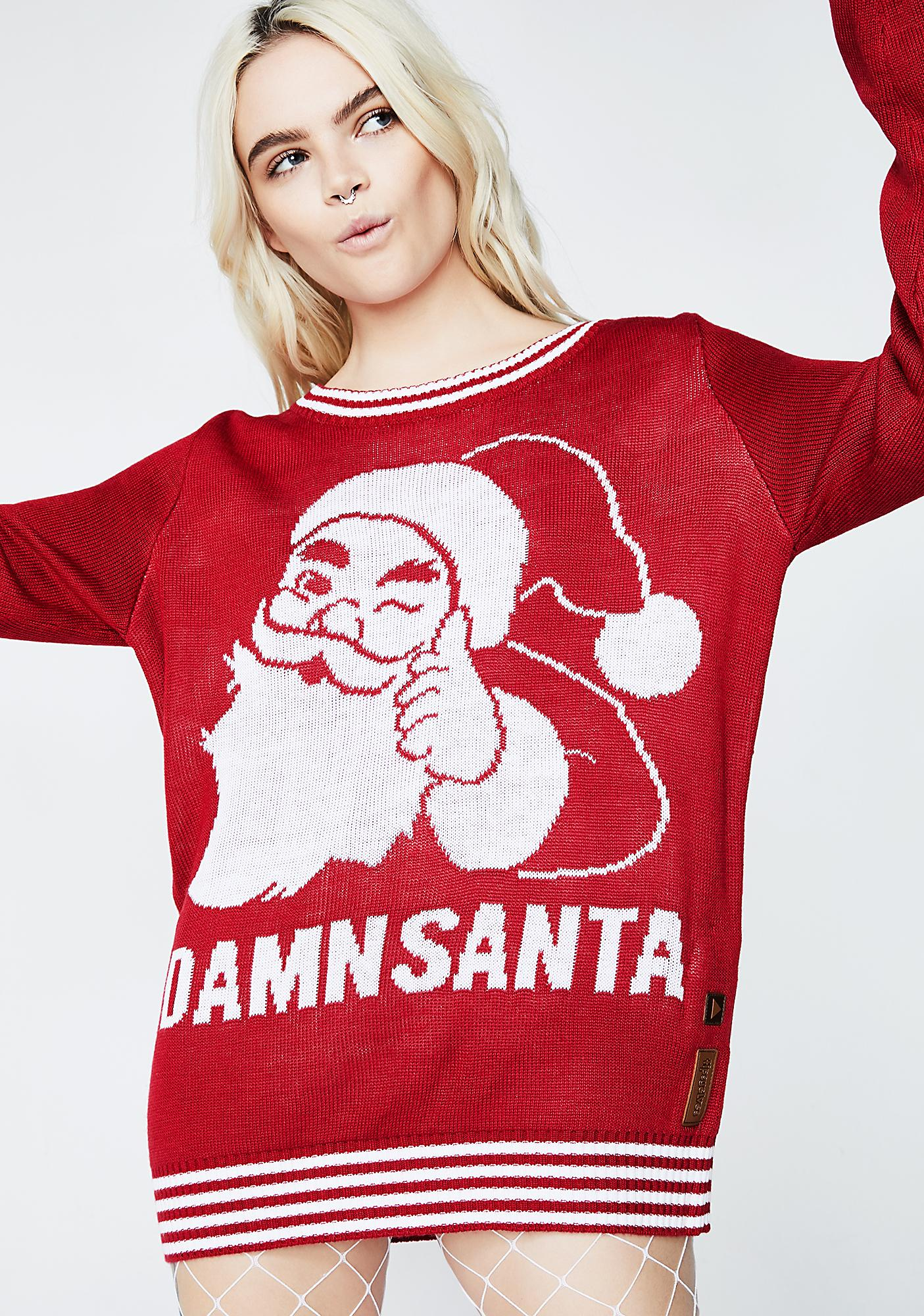 Tipsy Elves Damn Santa Sweater