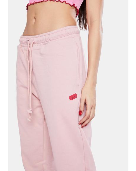 Dusty Pink Basic Sweatpants