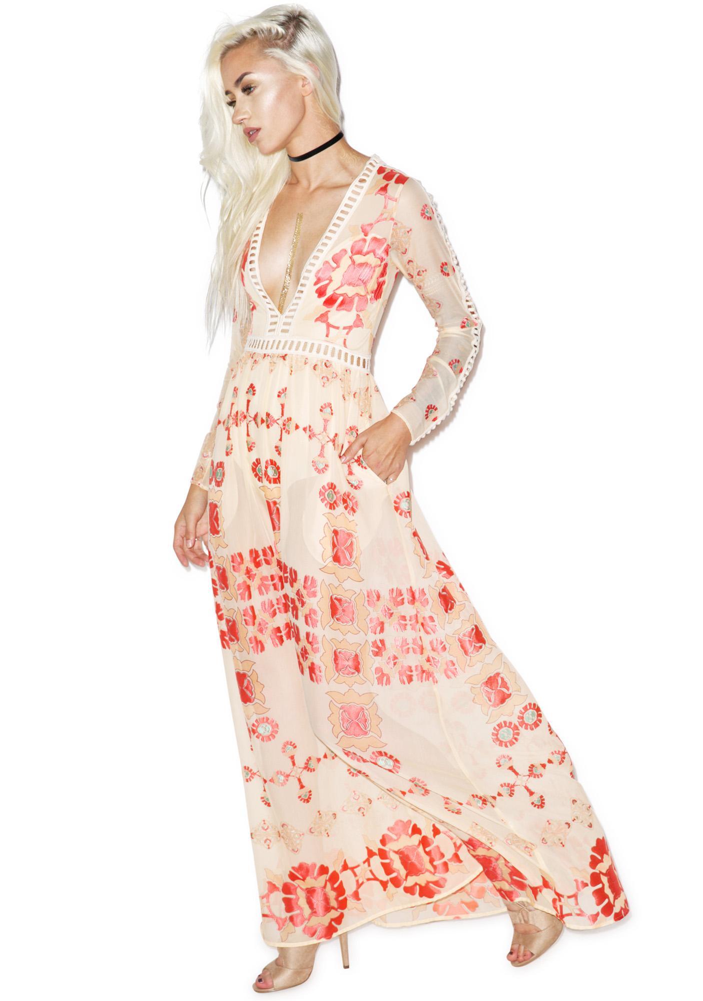 For Love & Lemons Barcelona Maxi Dress