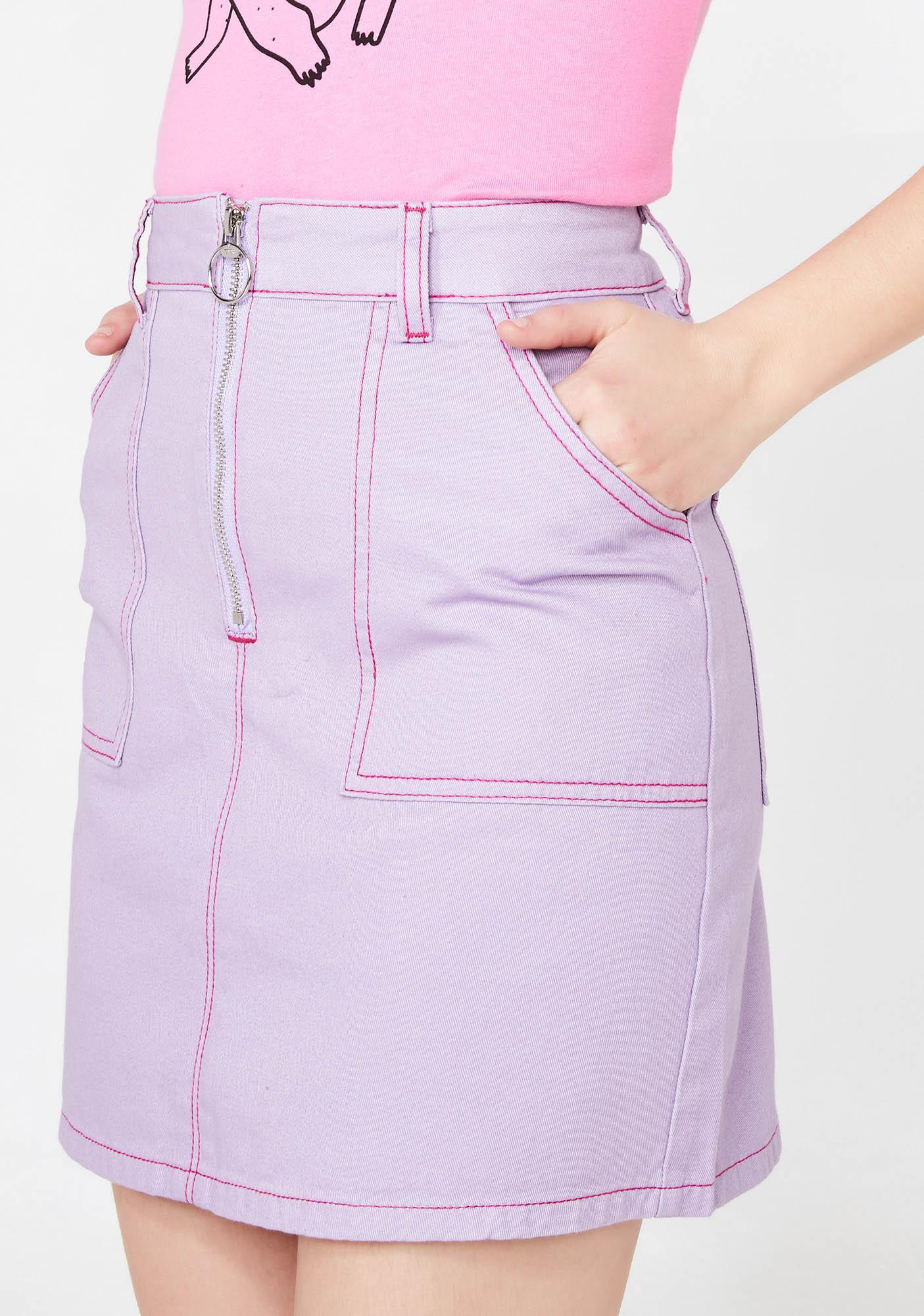Lazy Oaf Contrast Stitch Cigarette Skirt