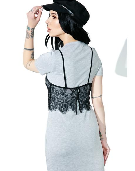 Slummin� It Lace Layer Dress