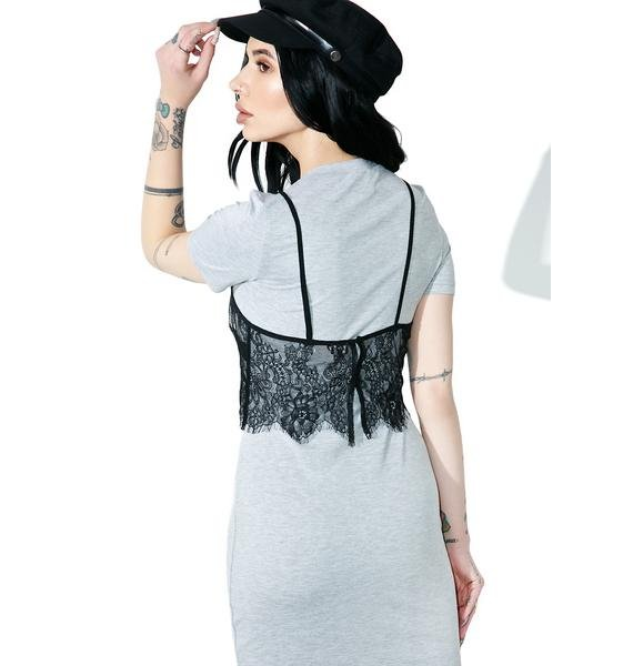Slummin' It Lace Layer Dress