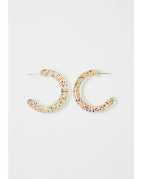 This Friday Night Hoop Earrings