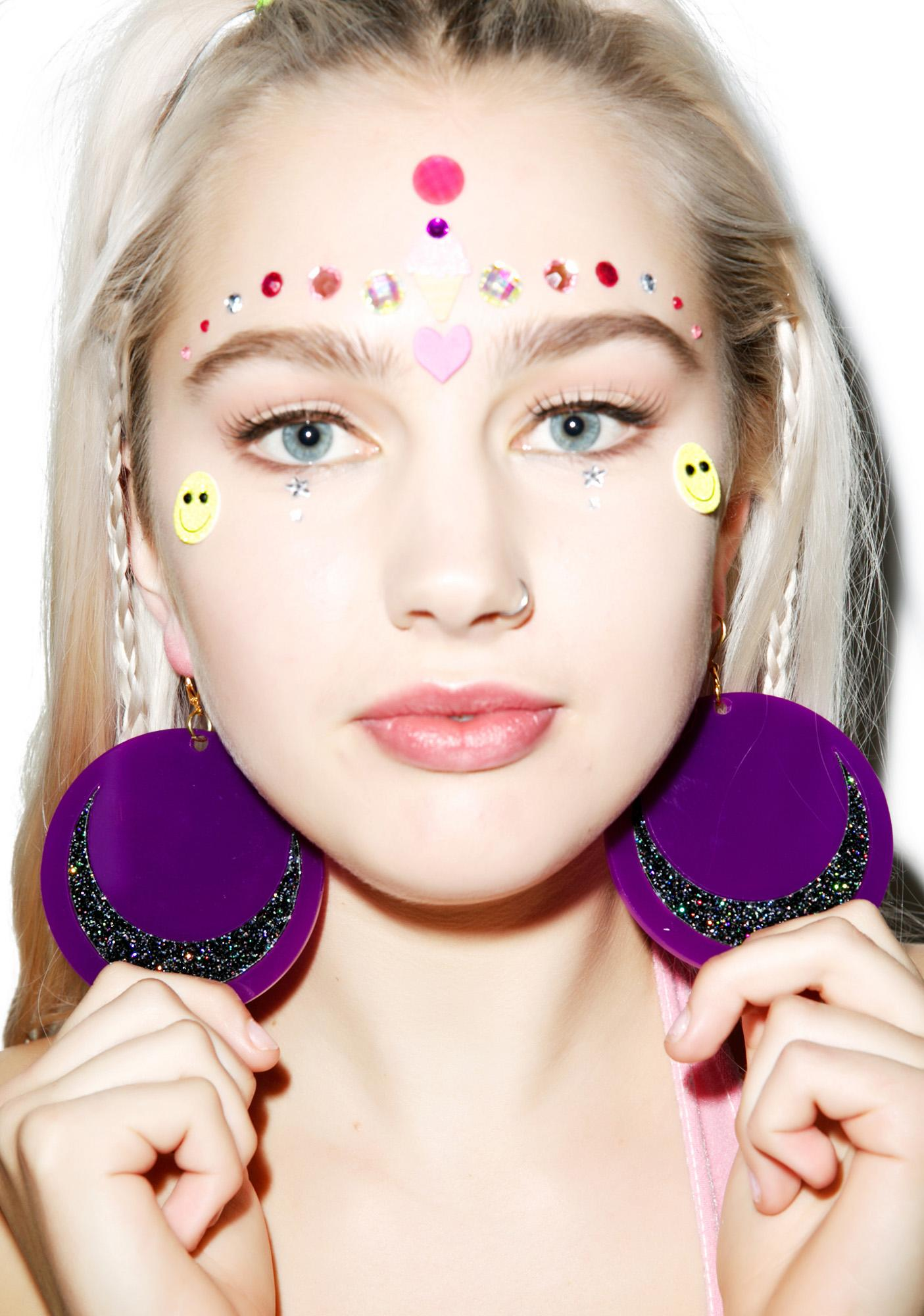 Marina Fini X Dolls Kill Luna Moon Earrings