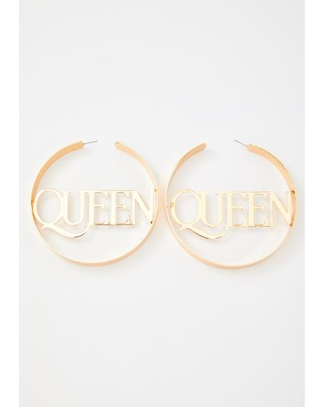 Queen Bee Hoop Earrings