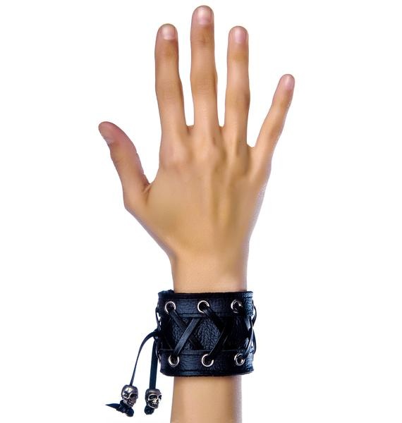Club Exx Tie Me Up Corset Bracelet