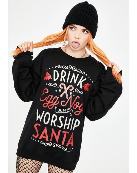 Drink Eggnog Crewneck Christmas Sweatshirt