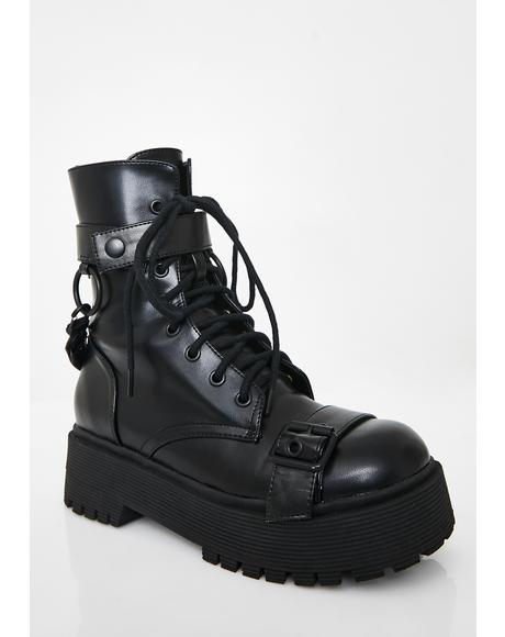 Wicked Command Buckle Boots