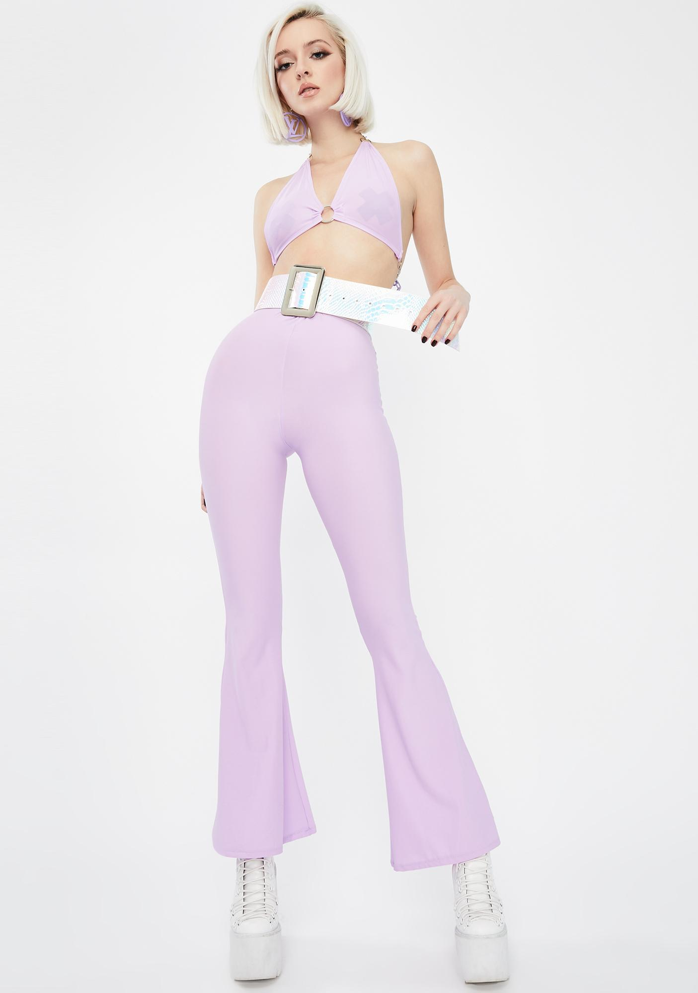 Babydol Clothing  Lilac Chain Bra Top
