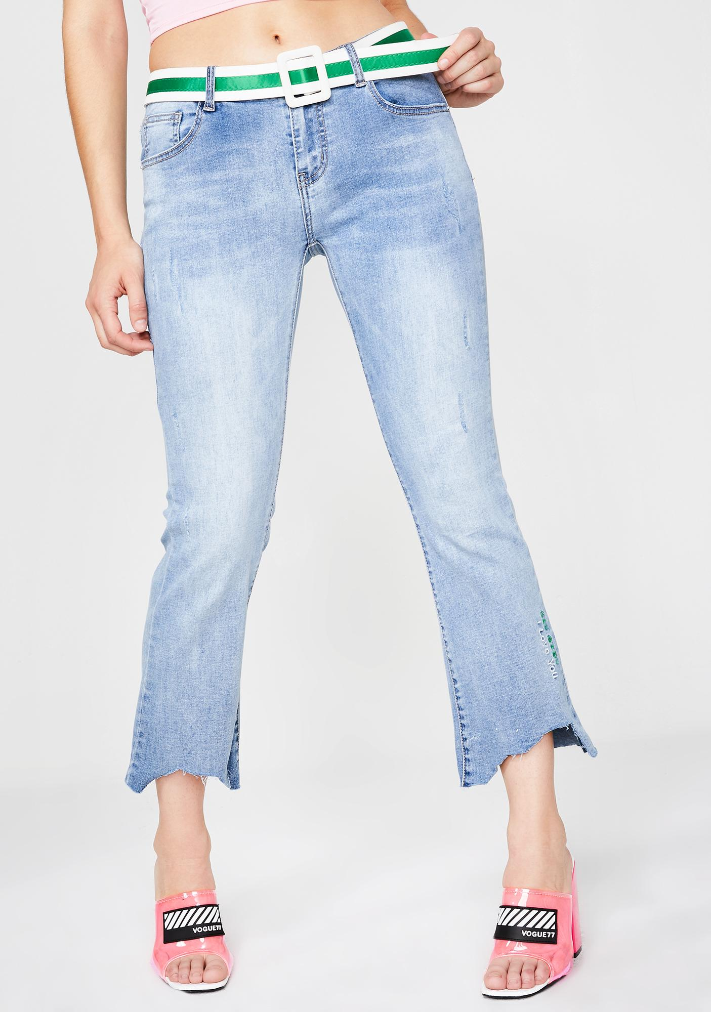 caebd158665 Molly Bracken Belted Jeans | Dolls Kill