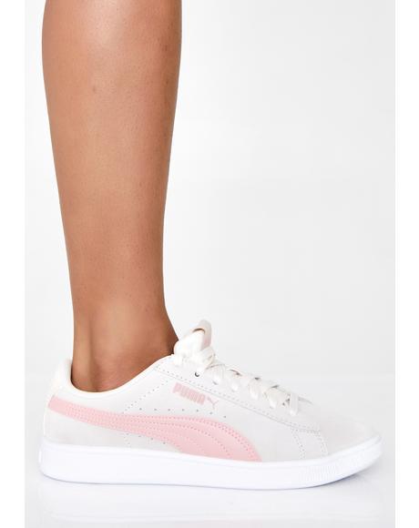 PUMA Pastel Parchment Vikky v2 Sneakers