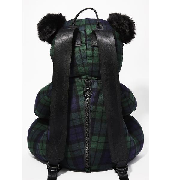 PUMA FENTY PUMA BY Rihanna Plaid Mascot Bear Backpack