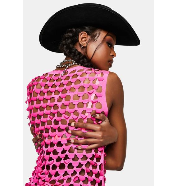 Kiki Riki Show Me Love Fishnet Mini Dress