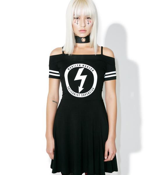 Killstar Gloom Bardot Cheerleader Dress