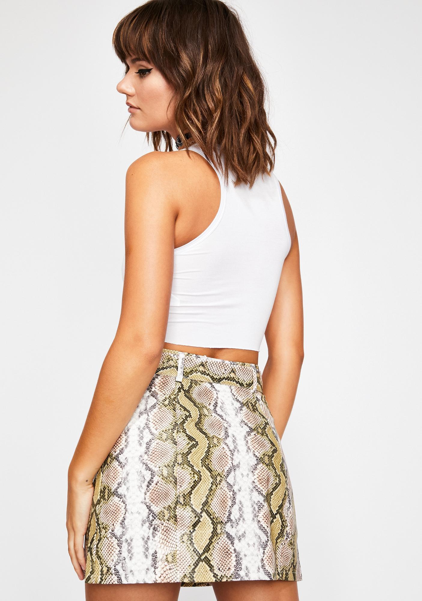 Poisonous Sahara Snakeskin Skirt