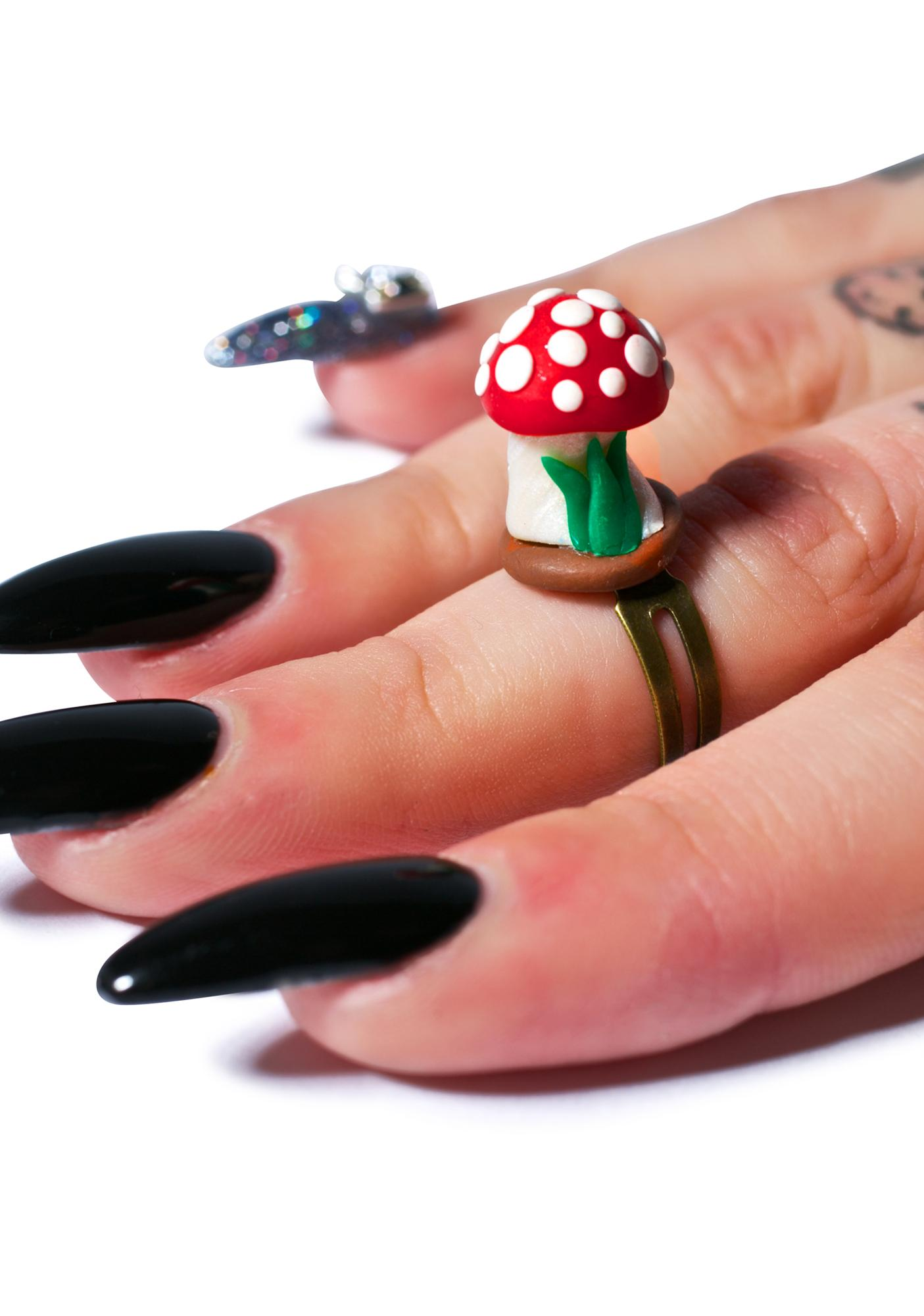 Wicked Hippie Growing Mushroom Ring