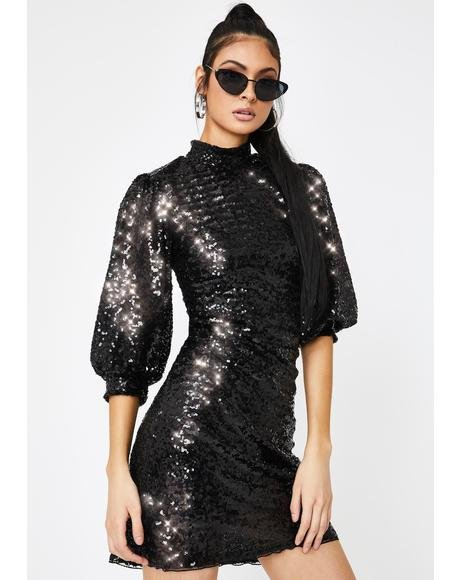 Call It A Night Sequin Dress