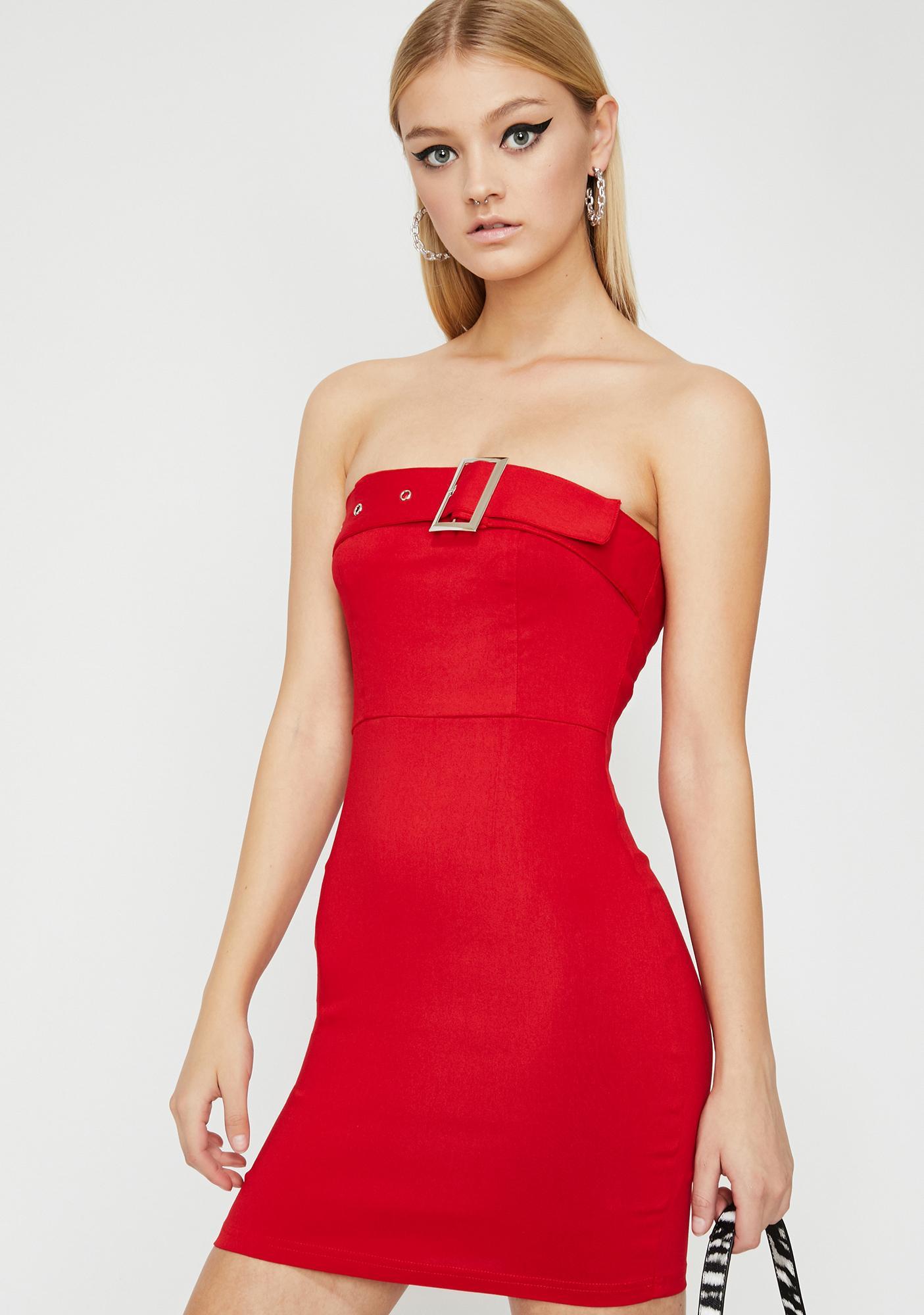 Lit Bucklin' Down Mini Dress