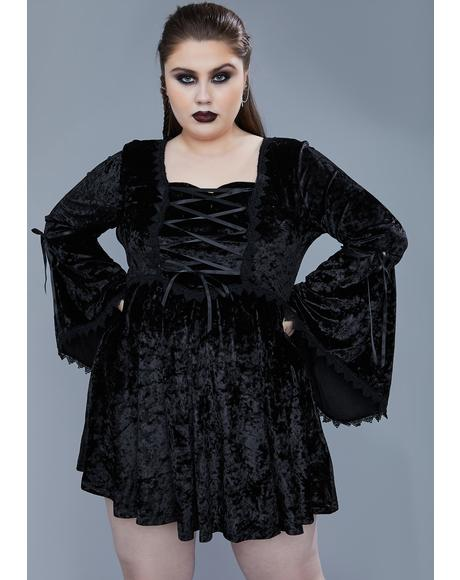 Always Fear The Night Bell Sleeve Dress