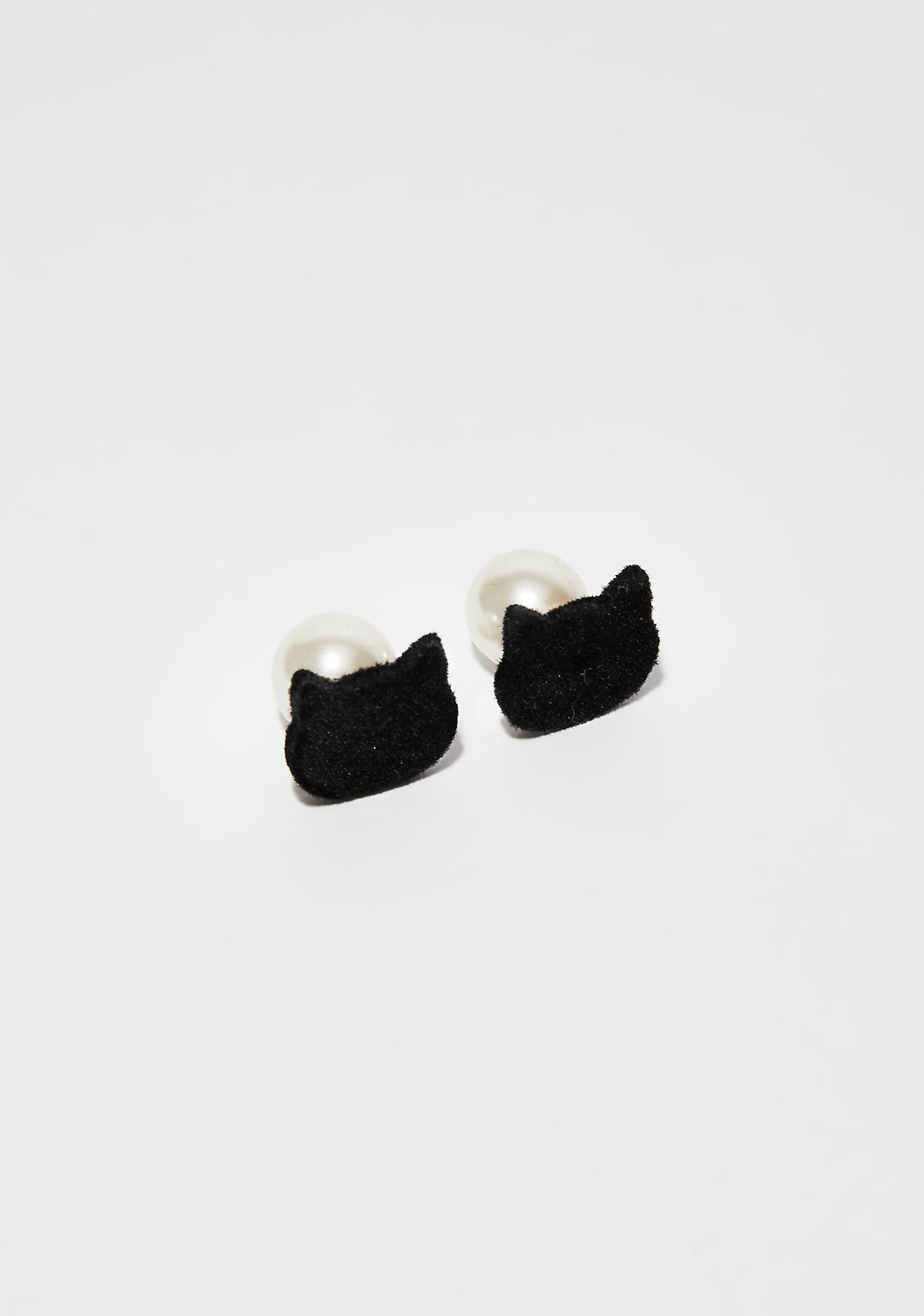 Kitty Stud Earrings