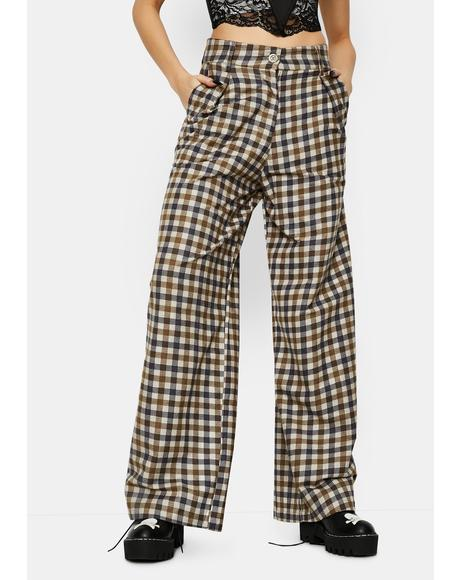 40's Check Yeva Trousers