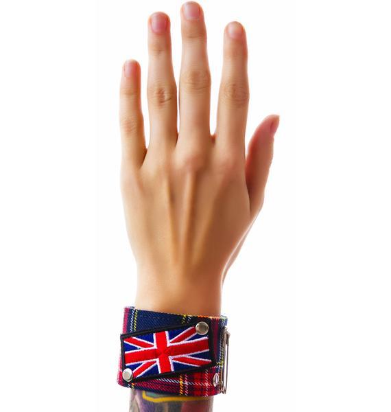 God Save the Queen Plaid Bracelet