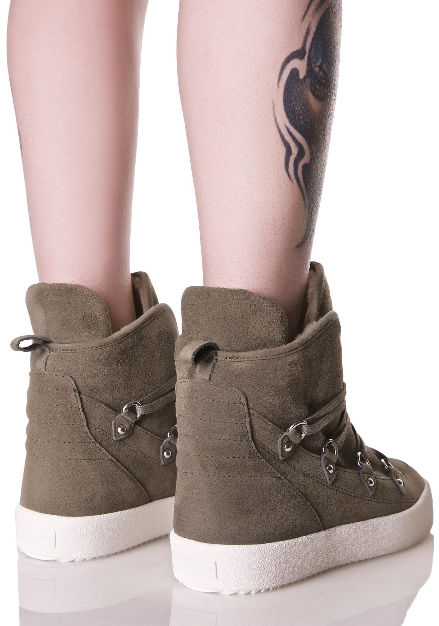 Kendall + Kylie Olive Darby High Top Sneakers