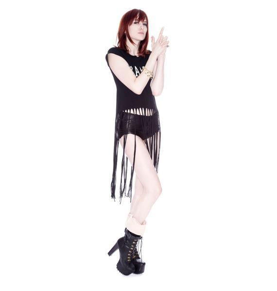 Wildfox Couture Bang Fringe Tee
