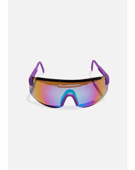 Purple Beach Sunglasses