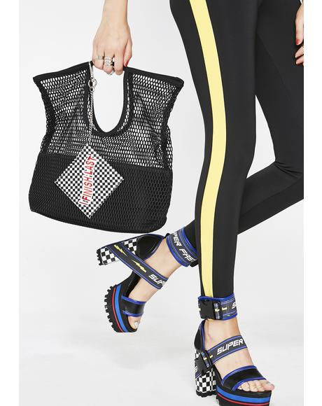 Halfway There Mesh Tote