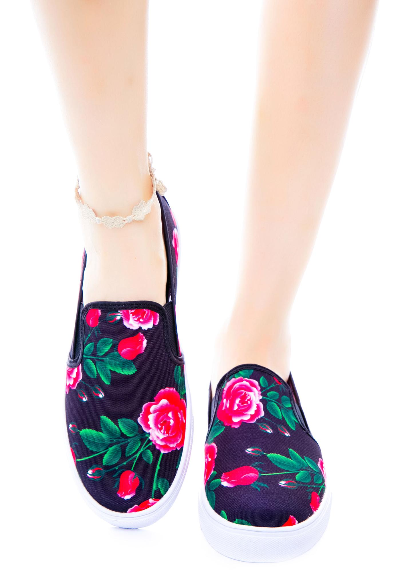 Y.R.U. Chill Floral Slip-On Sneaker