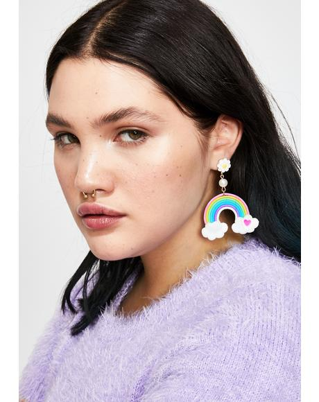 Cloud Nine Rainbow Earrings