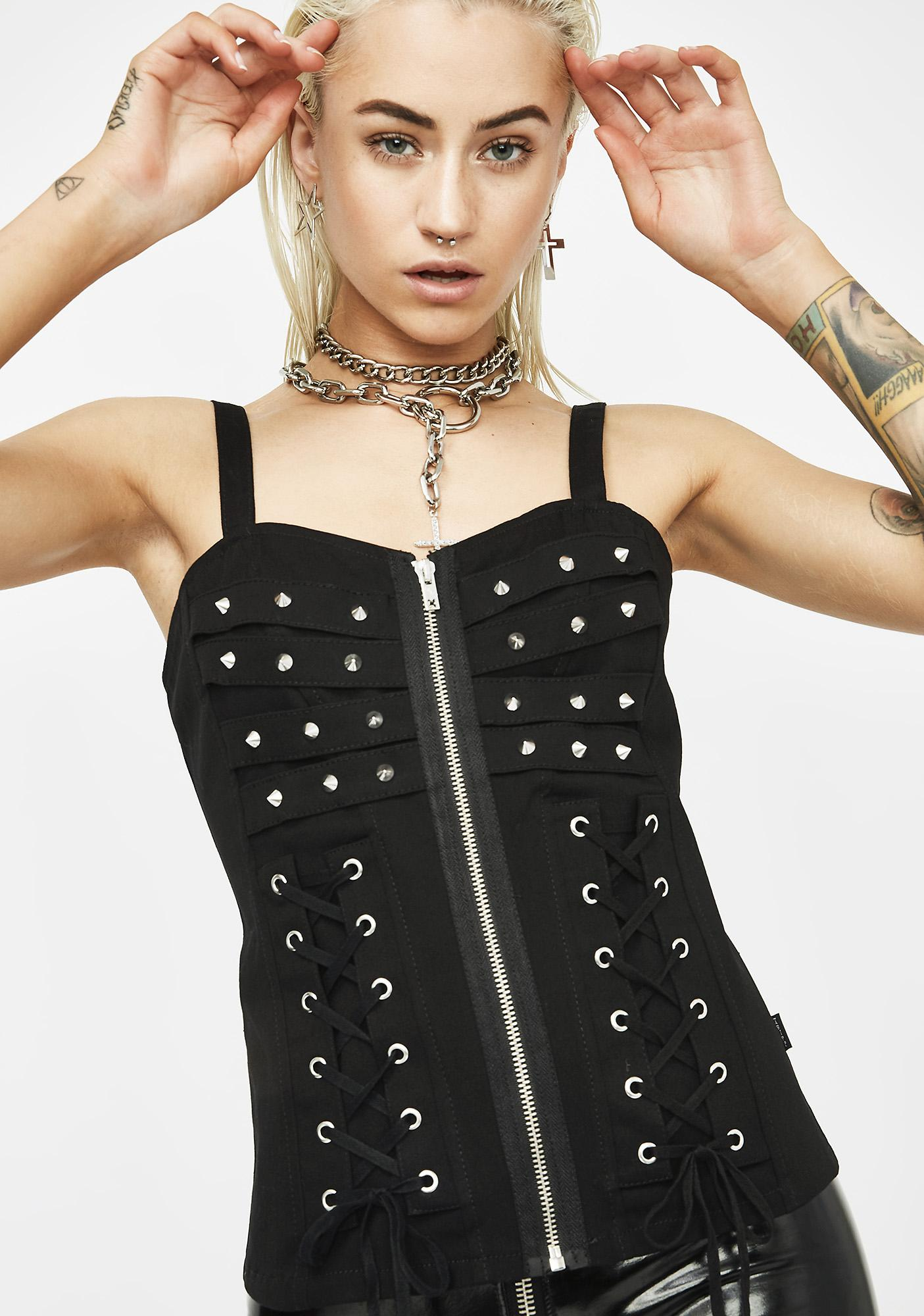 Tripp NYC Z-Lace Up Corset