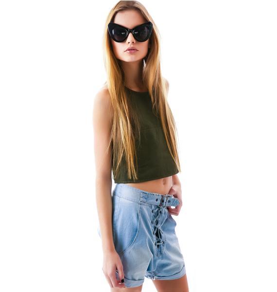 One Teaspoon Chambray Superfreak Shorts